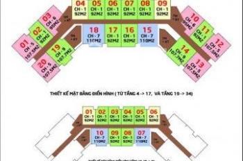 Bán lỗ 300tr CHCC IA20 Ciputa, 1616-B: 92m2 & 1813-B: 107.5m2 & 1918: 110m2, 18.5 tr/m2. 097I085383