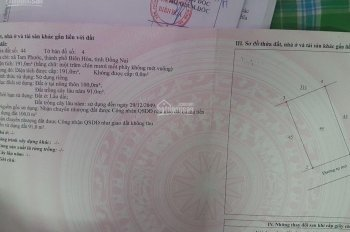 Bán 10m mặt tiền Tam Phước- Biên Hoà, SHR, TC giá chỉ 1,2 tỷ