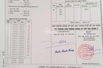 Bán đất 163 - 165 Trần Não, quận 2, diện tích 900m, xây 2 hầm 7 tầng - 0983161419