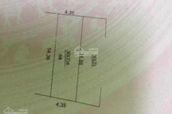 Cần bán lô đất nền chính chủ, 64m2, hướng Đông, ngõ vào 3m, nở hậu