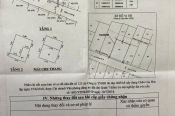 Kẹt tiền bán nhà hẻm xe hơi Vườn Điều, DT: 62,4 m2, 1 trệt, 2 lầu, 3PN, 3WC, giá: 5,9 tỷ