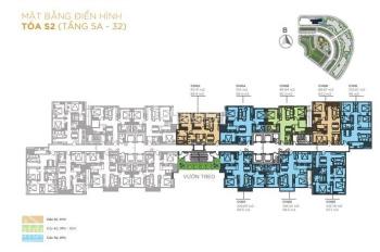 Bán căn 03 tòa S2 diện tích 98.1m2 thiết kế 3 Ngủ tối ưu nhất giá 3,73 tỷ Full Nội thất + VAT+ KPBT