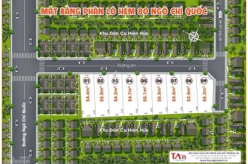 Bán đất hẻm 80 đường Ngô Chí Quốc, phường Bình Chiểu, quận Thủ Đức, DT: 55,3m2