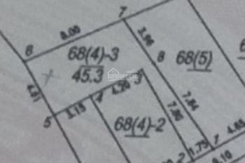 Bán đất Tổ 20 Thượng Thanh,  DT: 45m2, nở hậu, Rộng: 4m. Dài: 8m