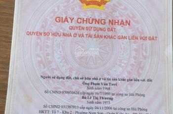 Bán đất mặt đường 208, An Đồng, An Dương, Hải Phòng