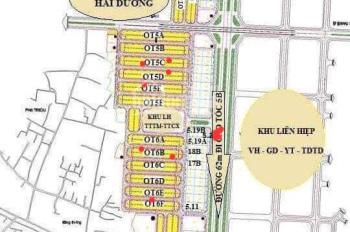 Bán đất giá đầu tư Khu Nam Hải Dương - BV Nhi mới - Đại học Hải Dương - Viện Thần Kinh