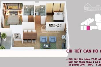 Bán căn 07 tầng thấp cc Tháp Doanh Nhân, DT 66,86m2 nhận nhà ở ngay. Lh 0941878833