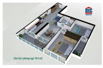 Bán căn hộ Gateway Vũng Tàu 2PN 76m2, giá chỉ 1 tỷ 7 thương lượng - LH: 0898.690.782