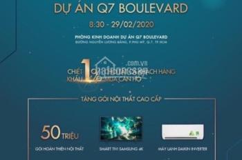 Tặng tivi + 2 máy lạnh -Căn hộ Q7 Boulevard Phú Mỹ Hưng, MT Nguyễn Lương Bằng nhận nhà ngay 38tr/m2
