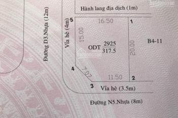 Đất sổ đỏ, 3 mặt tiền kinh doanh, KDC Bình Nguyên - Dĩ An BD, ngay làng ĐHQG. DT: 317m2, giá 12tỷ