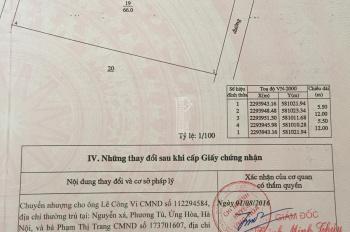 Cần bán đất: 66m2; giá: 465tr, tại Nguyễn Thượng Hiền, Vân Đình, Ứng Hòa