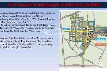 Cho thuê căn hộ dự án Sunshine Garden rẻ nhất thị trường, Mr. Cường 0976044111