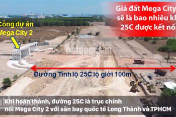 Đất nền Nhơn Trạch  Mega City 2 chỉ từ 6.5tr/m2, dự án nằm mặt tiền 25C đang khởi công xây dựng