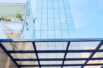 Cho thuê tòa nhà thẩm mỹ viện, karaoke ngang 10m, Q. Tân Phú, hầm 6 lầu, sân 90m2, 200tr/th