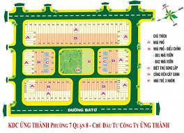 Bán đất sổ đỏ KDC Ứng Thành, phường 7, quận 8, mặt tiền 20m giá rẻ