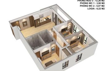 Căn hộ 3 phòng ngủ 2 vệ sinh dự án Viễn Đông Star - số 1 Giáp Nhị, Thịnh Liệt, Hoàng Mai, HN