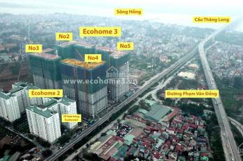 Chỉ từ 1ty5 căn TM 69m2 dự án Ecohome 3, chân cầu Thăng Long, tháng 10 nhận nhà || O9O213968O