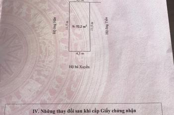 Bán lô đất 52,2m2, ngang 4.5m, ngõ ô tô đỗ tận cửa khu Vân Tra, An Đồng, An Dương