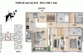 Bán căn 12 toà B tầng trung đẹp, DT 106,7m2 dự án The Zei Mỹ Đình LH 0915 369 851