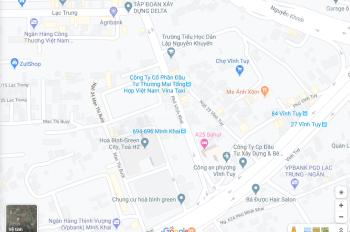 Cho thuê nhà MP Minh Khai, kd, 50m2 x 3T, 15tr/t