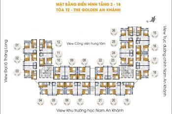 Bán Chung Cư Golden An Khánh, căn 07, DT 65.8 m2, giá 1.1 tỷ. LH chính chủ 0904516638