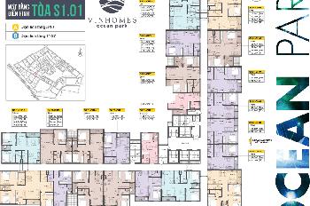 Chính chủ cần bán gấp căn hộ chung cư 15A05 tòa S101 Vinhomes Ocean Park.