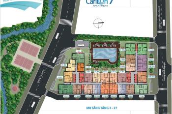 Carillon 7, bán gấp căn số 1,3 view, 88m2, 3PN 2WC 2,7 tỷ hướng Bắc view hồ bơi: LH: 0902 567 537