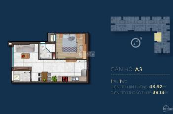 Chỉ với 405 triệu sở hữu ngay căn hộ 1 phòng ngủ tại trung tâm thành phố Thủ Dầu Một - Bình Dương