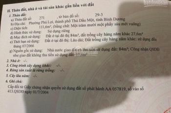 Bán đất mặt tiền Phú Lợi, liên hệ gấp chính chủ 0898789777
