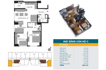 Căn góc C, D đẹp nhất, duy nhất giá 30 tr/m2, chung cư 789 Xuân Đỉnh sẽ thuộc về ai. 0906 039 266