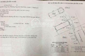 Bán nhà 100/13A - B Nguyễn Công Trứ P. Nguyễn Thái Bình Q1, DT: 5.7x10m, GPXD 5 tấm, giá 11.3 tỷ