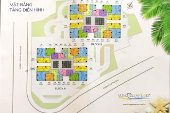 Bán căn hộ 2 phòng ngủ Melody Vũng Tàu, full nội thất view biển cực đẹp ra sổ hồng, 0901689911