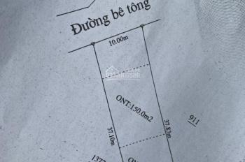 10 x 37m, 150m2 thổ cư, đường bê tông 5m