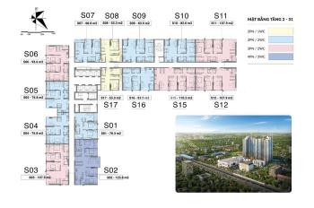 Mipec Rubik Xuân Thủy Cầu Giấy căn 2PN, giá 2,2 tỷ CK 6% HTLS 90%. LH: 0904.60.8181