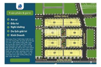 Bán lô mặt tiền biển dự án Hamubay Phan Thiết, pháp lý chuẩn, lô B38 - 25, 48,5tr/m2. 09688.11116