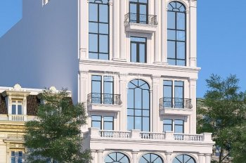 Cho thuê toà nhà thương mại MP Trung Hoà, DT 450m2 x 6 tầng, 2 mặt tiền, thông sàn. Giá 350 tr/th