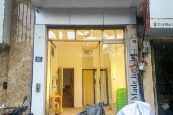 Cho thuê 18m mặt bằng kinh doanh đối diện Lăng Bác, số 81 Lê Hồng Phong, Ba Đình. LH 0866858494