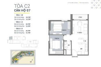 Cần bán căn góc 2PN toà C2 dự án D'Capitale giá chỉ 2,85 tỷ bao phí full nội thất