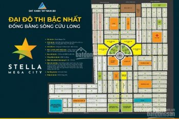 Suất nội bộ nền shophouse (Stella Mega City) đường 25m chỉ 2,1 tỷ/nền DT 110m2 - 0933.443.900
