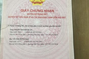 Bán nhà hẻm 83/4 đường Số 15, p.Tân Quy, Q7 ngay chợ Tân Quy nhà 1T 1L sổ hồng riêng giá 2,450 tỷ