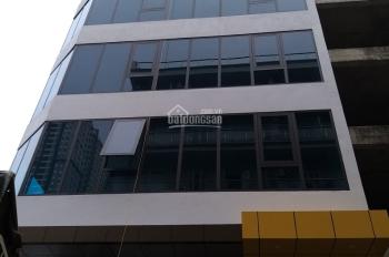 Cho thuê tòa nhà Mỹ Đình, 105m2 x 8T, lô góc, MT 8m, xây mới, thông sàn