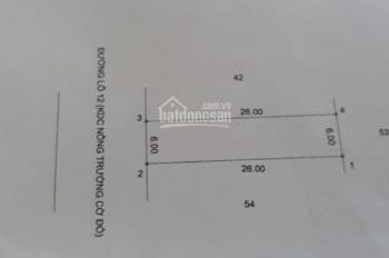 Cần bán 156m2, đất khu công nghiệp Bàu Bàng xã Cây Trường 2, Bàu Bàng, Bình Dương