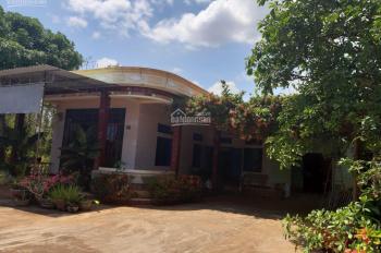 Bán nhà mặt tiền đường nhựa 12m, nhà mái đúc kiên cố, gạch bông, DT: 22x100m, TC 150m2