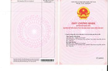 Chính chủ bán đất ở sổ đỏ thị trấn Long Điền mặt tiền Tỉnh lộ 44A, cạnh TTHC Bà Rịa - Vũng Tàu