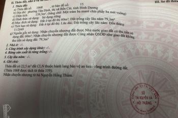 Bán đất Tân Định, Bến Cát giá 590tr 139m2 thổ cư 60m2 đường nhựa 7m thông