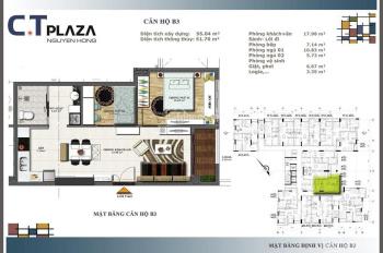 Kẹt tiền nên bán lỗ căn hộ 2PN CT Plaza Nguyên Hồng sát sân bay, hơn 2 tỷ, 090 427 4188