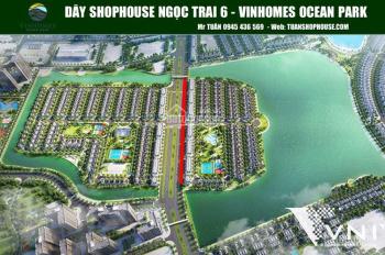 Cho thuê shophouse Ngọc Trai 6 Ocean Park - Hoàn thiện cơ bản, tháng 9/2020 tính tiền thuê