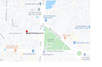 Bán nhà ngõ 59 đường Lê Lợi - Tp Vinh