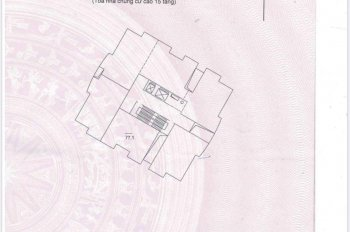 Bán gấp căn hộ 77m2 tại chung cư VOV Mễ Trì