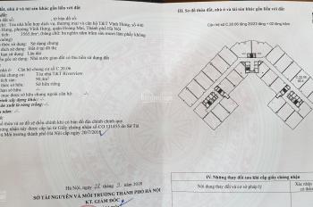 Bán căn hộ 90.4m2 chung cư T&T số 440 Vĩnh Hưng, Hoàng Mai, sổ đỏ, 3 tỷ có thương lượng